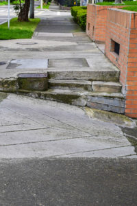 Sidewalks in Bogota