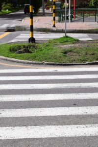 Crossing the street in Bogota